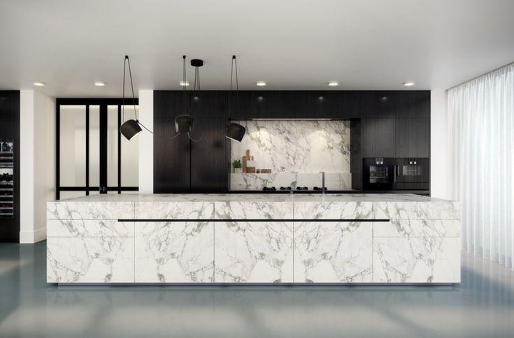 Exclusieve design keuken met marmer