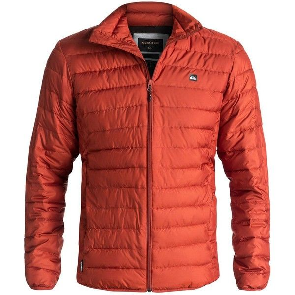 Quiksilver Quiksilver Scaly Full Puffer Jacket (275 BRL) ❤ liked on Polyvore featuring men's fashion, men's clothing, men's outerwear, men's jackets, men coats and jackets, mens polyester jackets, mens faux leather jacket, mens insulated jackets, mens zip up jackets and mens puffer jacket