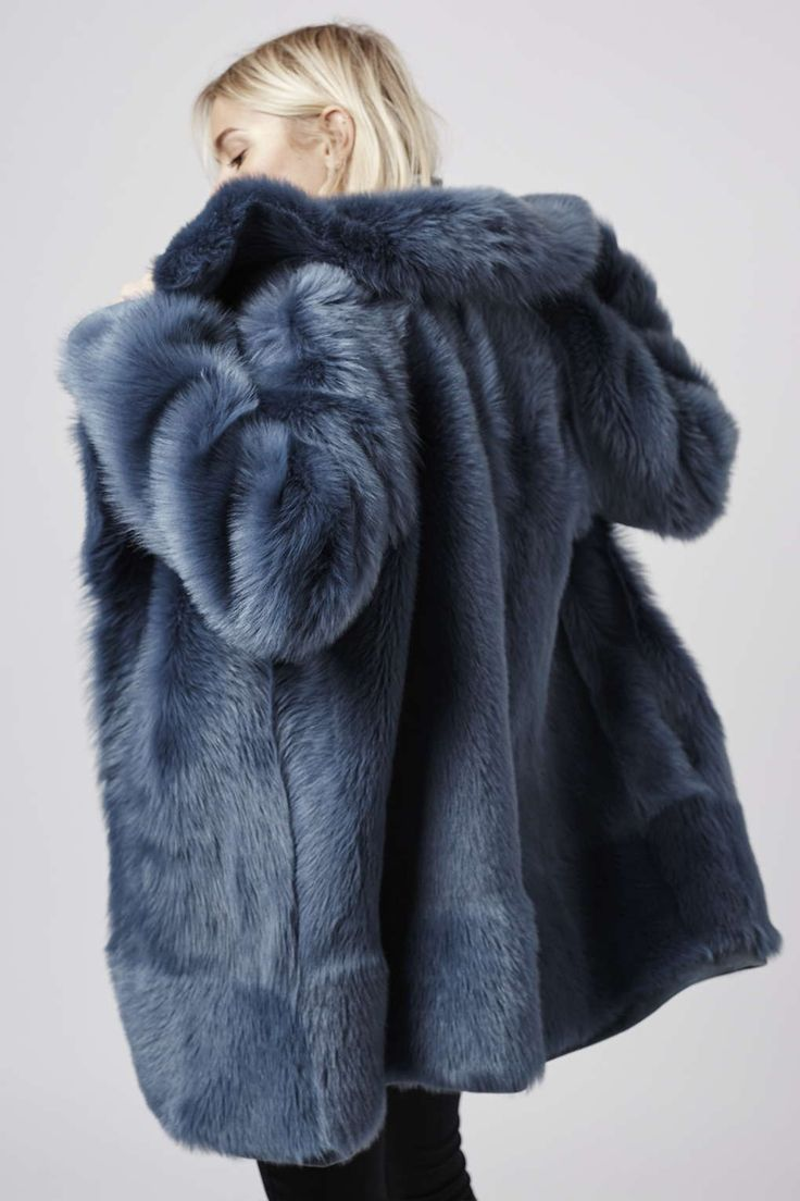 **Premium Blue Sheepskin Coat - Coats - Clothing - Topshop