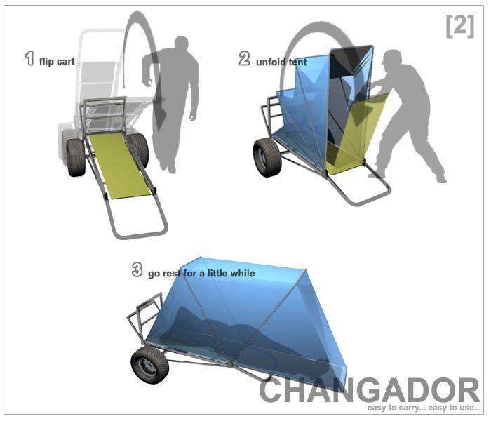 Changador Designboom Com Bike Camping Homeless Shelter Design Homeless Shelter Ideas