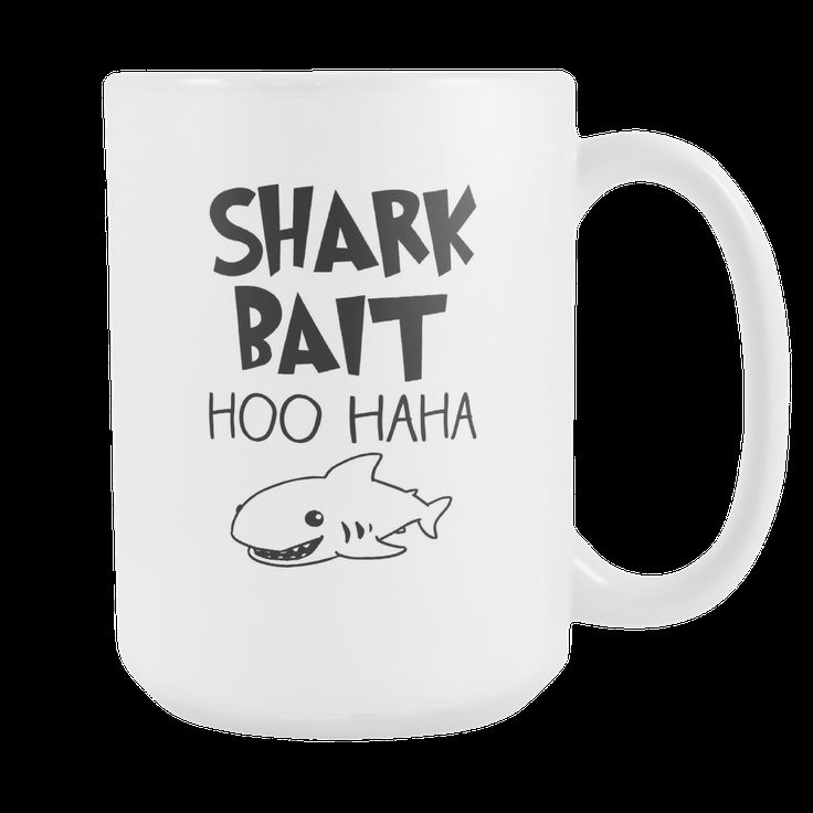 Shark Bait Coffee Mug, 15 Ounce
