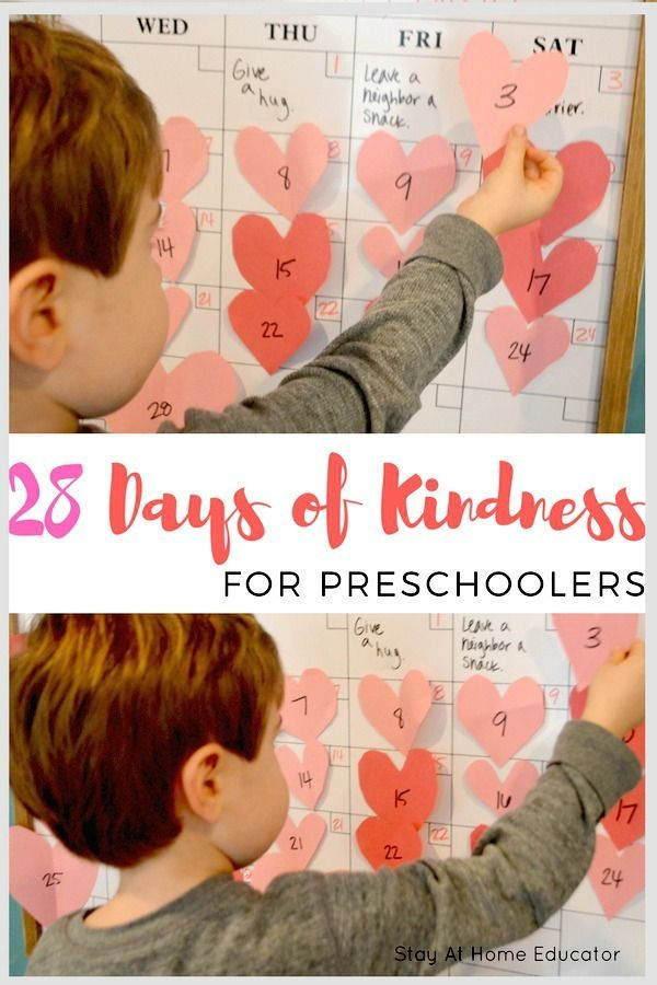 Great idea!  Would work for kindergarten too, not just preschoolers