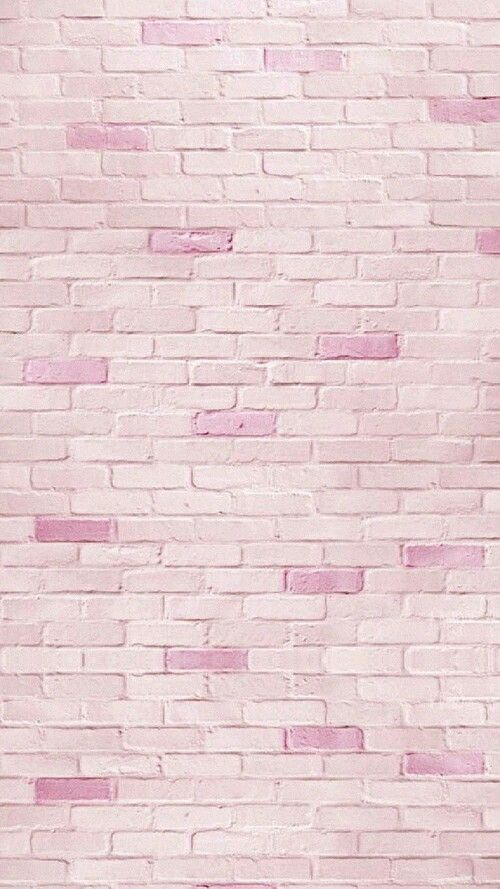 Pink brick iphone wallpaper