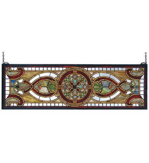 This Topaz Transom Stained Glass Window will add style and color to the transom over your door. A small price to pay to add class and color to your entryway.