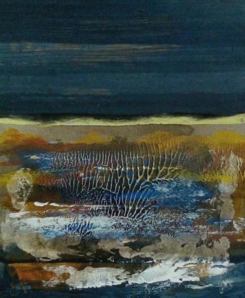 Paintings - ENVIRONMENT 2 - AN ORIGINAL ABSTRACT LANDSCAPE BY CELESTE FOURIE-WIID for sale in Hermanus (ID:308473872)