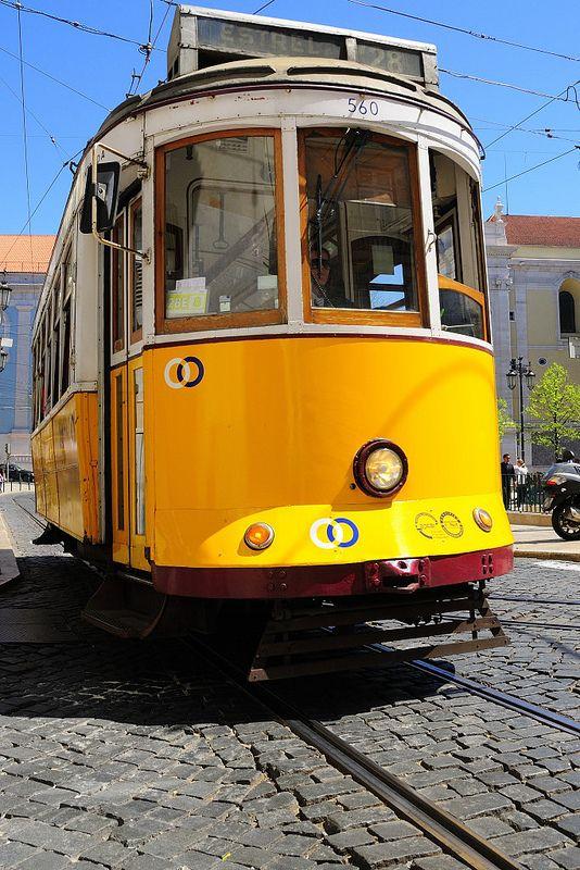 Tram 28 near Santa Catarina, one of the locations of the film Night Train to Lisbon. Lisbon, Portugal.  Photo: © Rui Rebelo via www.flickr.com/ruireb 09/April/2012