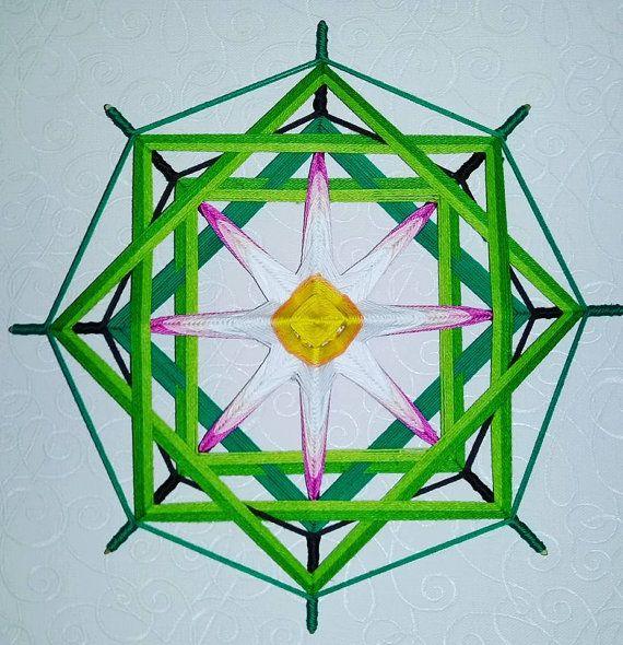 Mandala Ojo de Dios Lotus by BeHappyMandalaShop on Etsy