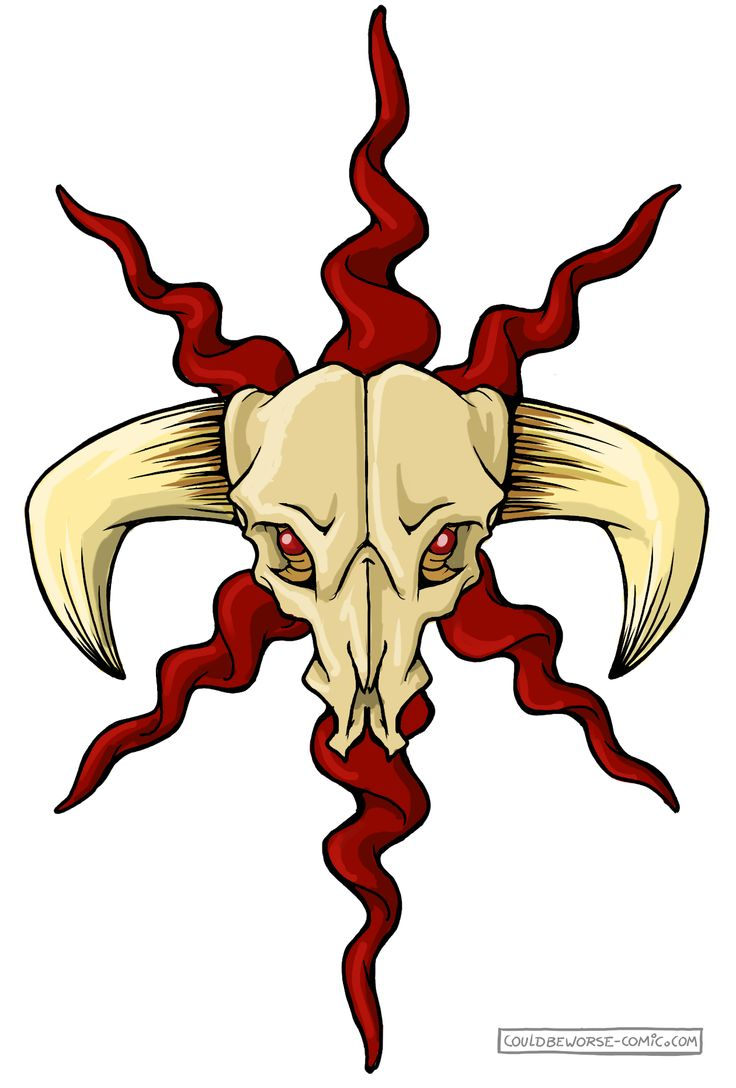 Barbaric orc symbol, horns and skull, made for gamesnstuff.com