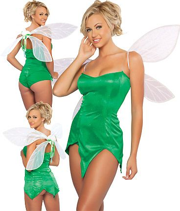 Sexy Green Pixie Costumes for Women Tinkerbell Style
