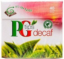 PG Tips Decaffeinated Tea 40 Bags - 6 Pack