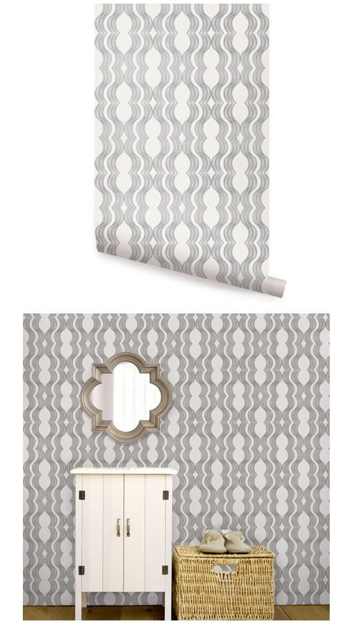 Wave Gray Peel and Stick Wallpaper - Wall Sticker Outlet