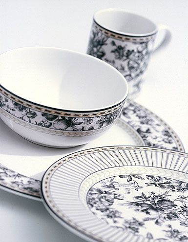 Royal Doulton Provence Noir casual fine china  sc 1 st  Pinterest & 198 best Fine China images on Pinterest   Dishes Fine china and ...