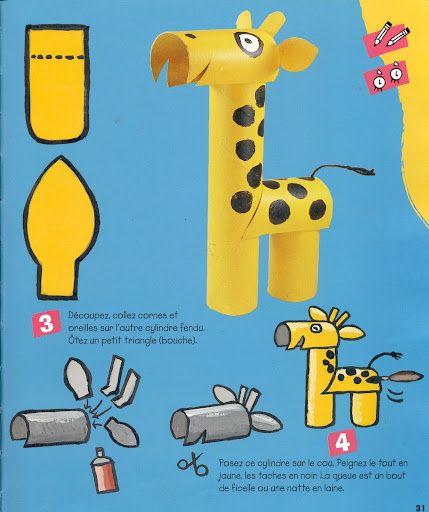 Toilet paper roll giraffe: