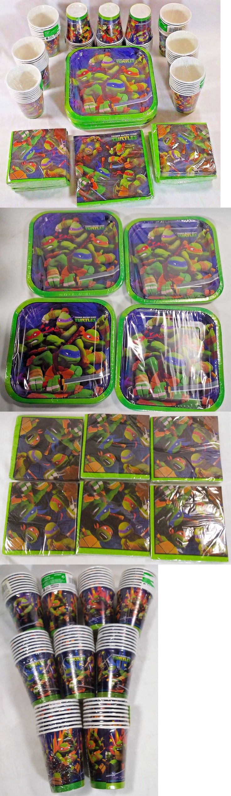 Party Tableware and Serveware 26388: Teenage Mutant Ninja Turtles Party Supply Tableware Bundle Cups Plates Napkins -> BUY IT NOW ONLY: $49.39 on eBay!