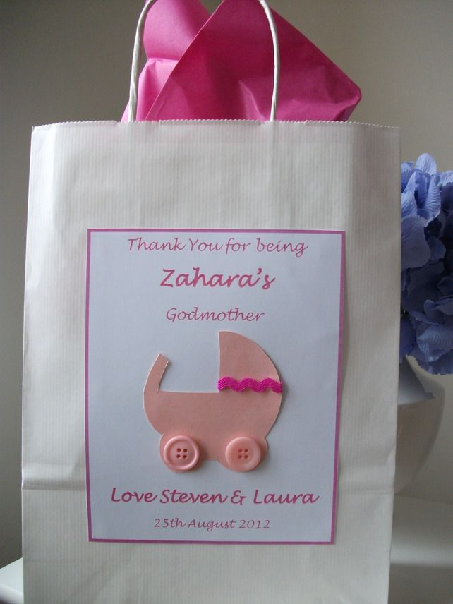thank you godparent christening naming day baby shower gift
