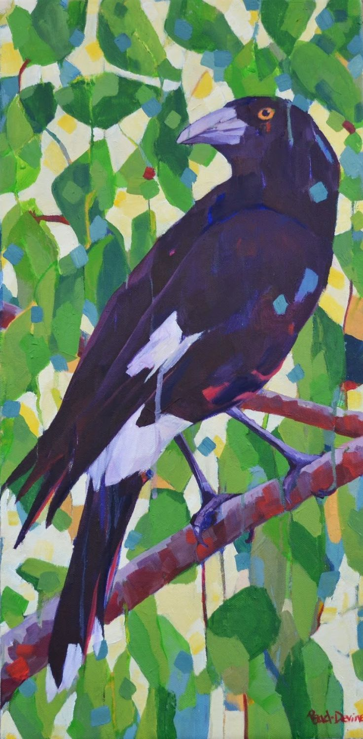 """""""Currawong"""" by Mellissa Read-Devine (sold)"""