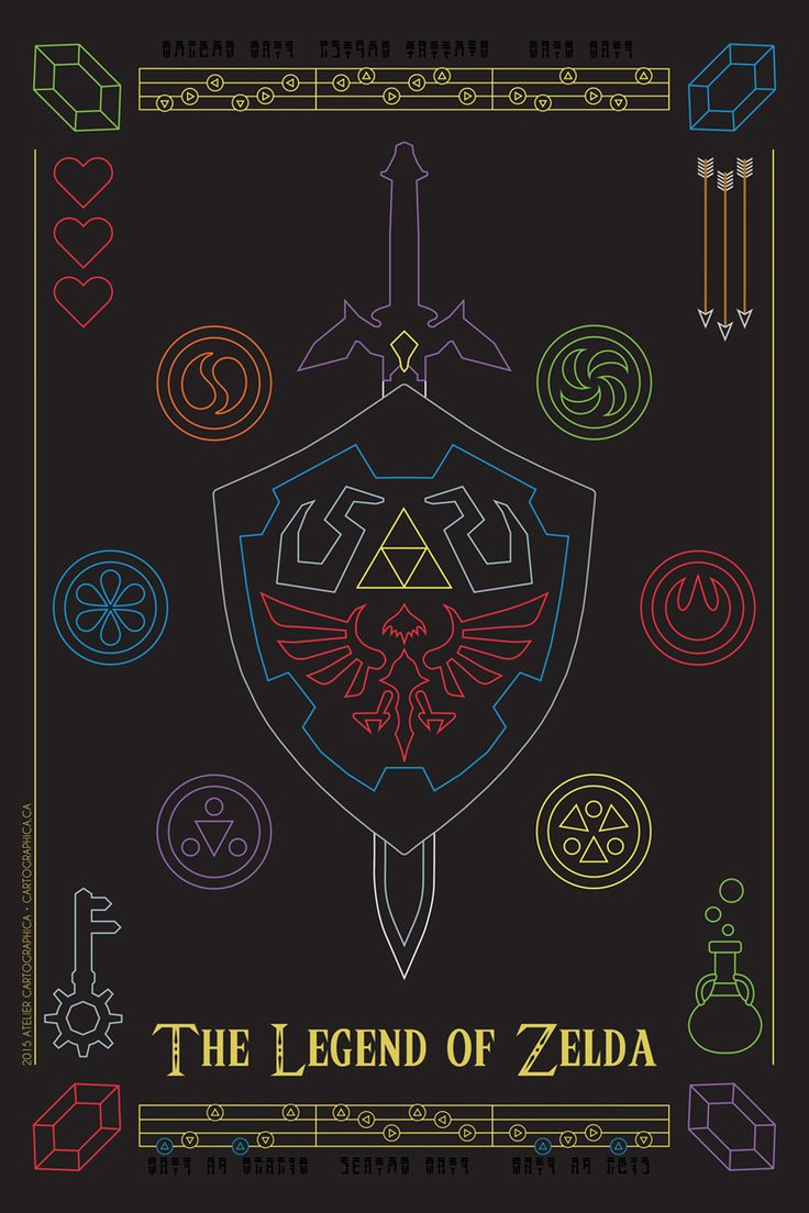 """The Legend of Zelda."" Art by Marcus Hynes This would be so cool on a neon sign!"