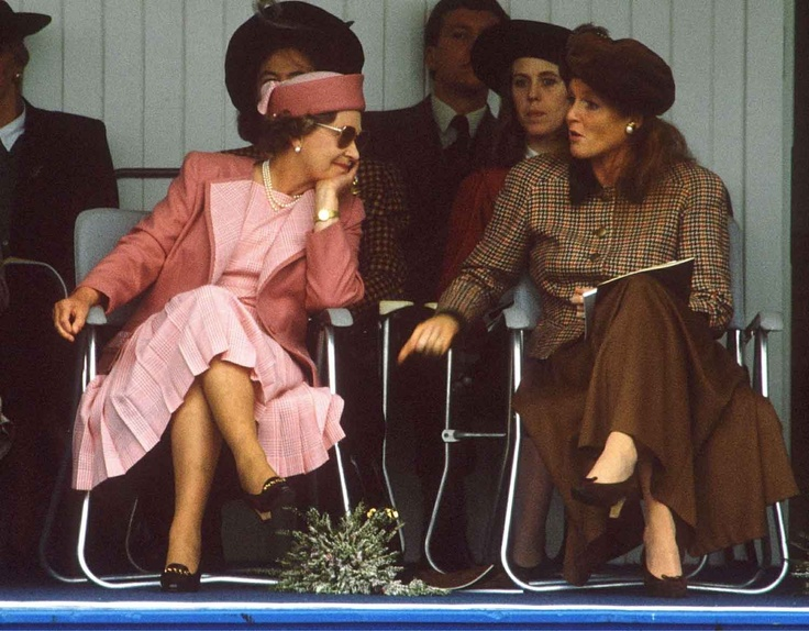 Queen Elizabeth II and Sarah Ferguson Duchess of York 1990