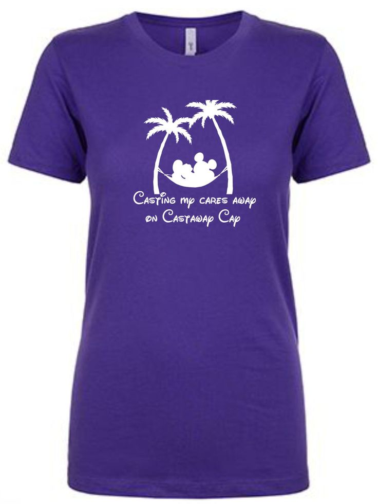 Disney cruise inspired Casting My Cares Away on Castaway Cay Carribean Bahamas tshirt 1510 by JusTeezin on Etsy