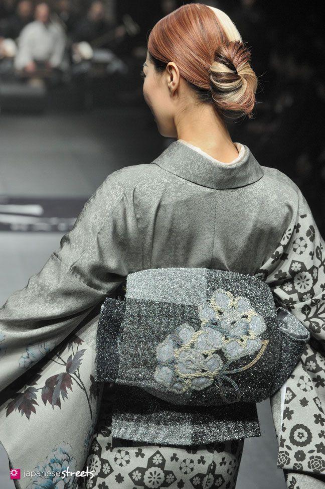 Autumn/Winter 2014 Collection of Japanese fashion brand JOTARO SAITO on March 19, 2014, in Tokyo.