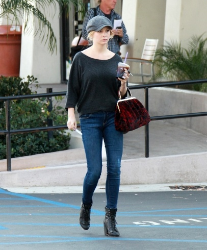 Candice Accola goes to get some coffee in Hollywood ...