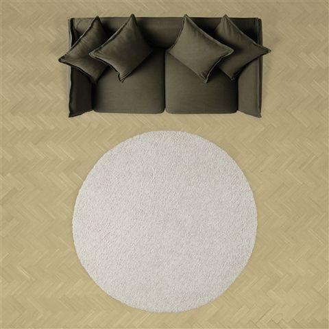φ1500 リーナ ラグ ラウンド アイボリー(アイボリー) Francfranc(フランフラン)公式サイト|家具、インテリア雑貨、通販
