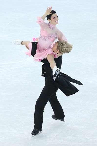 Meryl Davis and Charlie White of the United States compete in the Figure Skating Team Ice Dance - Short Dance during day one of the Sochi 2014 Winter Olympics in Sochi, Russia.