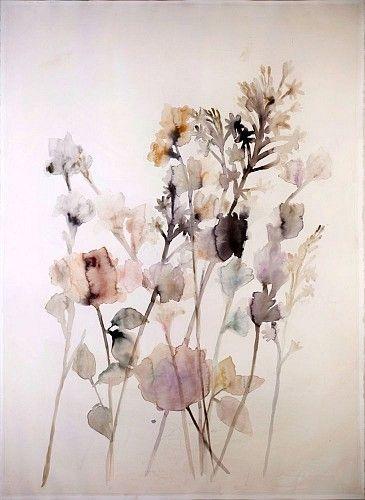 Lourdes Sanchez, tuberose, gladiolas and rose 1 2014, watercolor