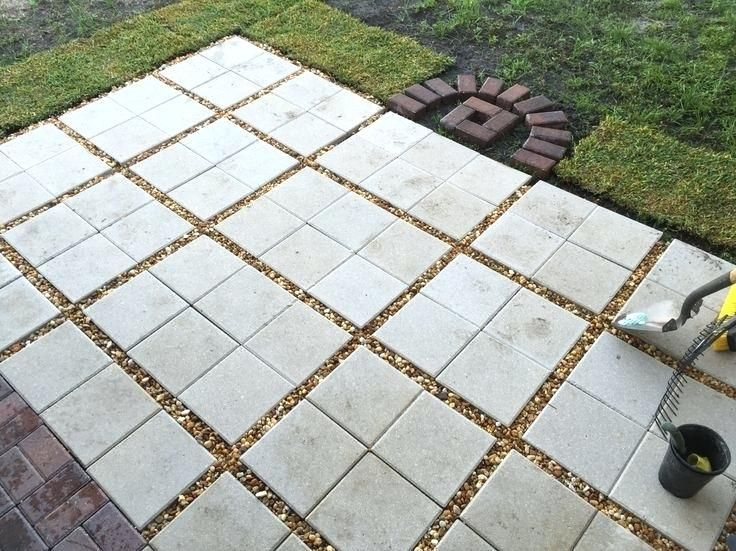 12x12 Cement Pavers 12x12 Concrete Pavers Walmart Diy Patio Pavers Paver Patio Gravel Patio