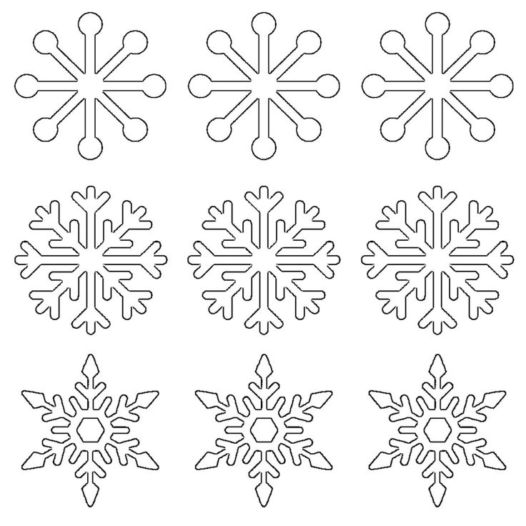 The first sheet contains 5 different snowflake shapes just for tracing purposes, and the second one is a set of 9 small snowflakes inside circles (for making stickers, gift tags, etc). Description from whatmommydoes.com. I searched for this on bing.com/images
