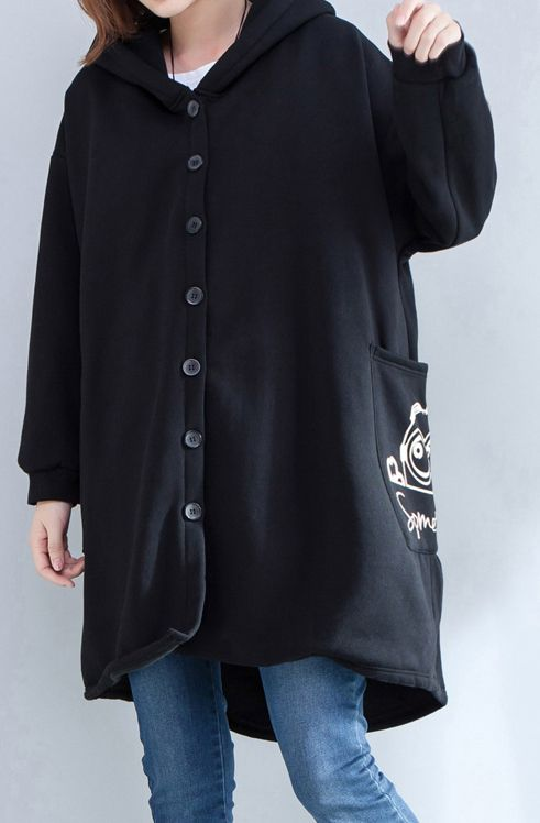 autumn-new-prints-black-casual-coats-oversize-hooded-back-side-open-cardigans-clothes