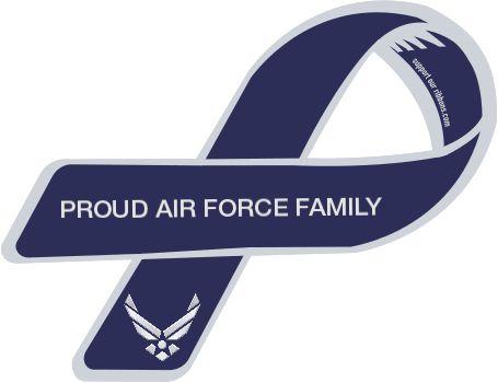 air force families | Custom Ribbon: PROUD AIR FORCE FAMILY