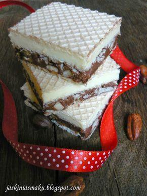 Jaskinia Smaku: Wafelek z kremem mleczno- czekoladowym a'la knoppe...