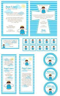 kit para imprimir de bautizo primera comunion o baby shower mlm f