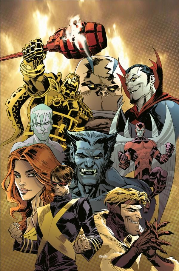Marvel Heroes and Villians by Dan Panosian. I really love Mr. Sinister in this drawing!