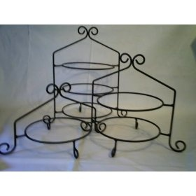 Wedding pie display - Wrought Iron Pie Stand/Rack Double Tier Hand Made Amazon >50 for 3