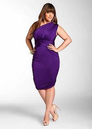 Plus size purple dress tops