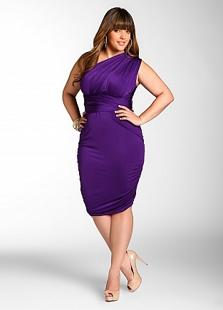 Ashley Stewart plus size convertible dress  This purple is perfect!