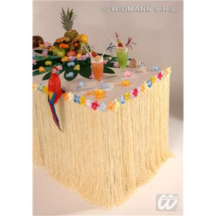 Hawaiian style table skirt. Perfect way to dress up a simple table in a tropical theme. With added flowers along the top edge. Baby & Child Electrical Fancy Dress Health & Beauty Home & Garden Sport & Exercise Tools & DIY Toys & Games Vehicle Parts & Accessories. | eBay!