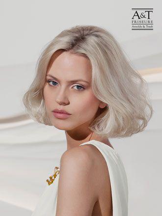 #Schulterlange Haare/mittellange Haare, grau-blonde Haare