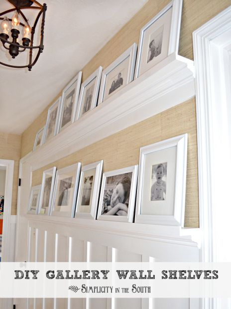 DIY Gallery Wall Shelves That Even a Beginner Carpenter Could Make - Simplicity in the South