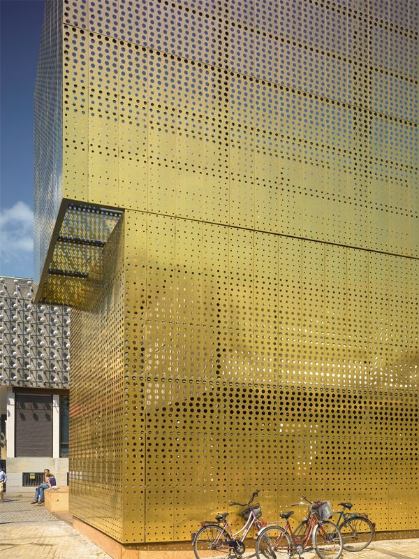 metal perforated and embossed sheet for facade tecu u00ae design punch