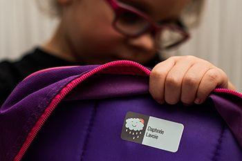Étiquettes scolaires - Identification du nom de l'enfant - Griffe NR