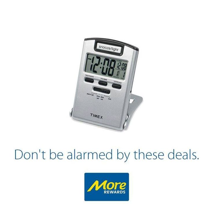 Protective cover for travelling, built-in flashlight, displays alarm time and date, LED night light. 5 year limited time warranty.  Learn More: https://www.morerewards.ca/catalog…/timex-travel-alarm-clock