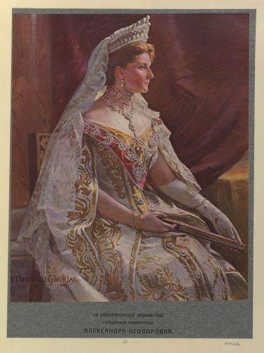 After Samokitschz-Sudkovskaya, E. ? (19/20C) - Alexandra Feodorovna (Empress of Russia, Empress, Consort of Nikolai II, Emperor of Russia, 4th Daughter of Ludwig IV, Grand Duke of Hesse & By Rhine)