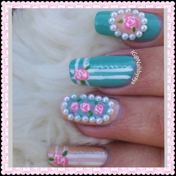 31 best nails images on pinterest hairstyles fashion beauty and vintage nails nailsbyraya prinsesfo Images