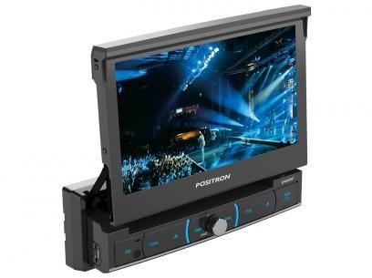"""DVD Automotivo Pósitron SP6320 BT Tela LCD 7"""" - Retrátil Touch Bluetooth 180 Watts RMS Entrada USB com as melhores condições você encontra no Magazine Turbinadobrasil. Confira!"""