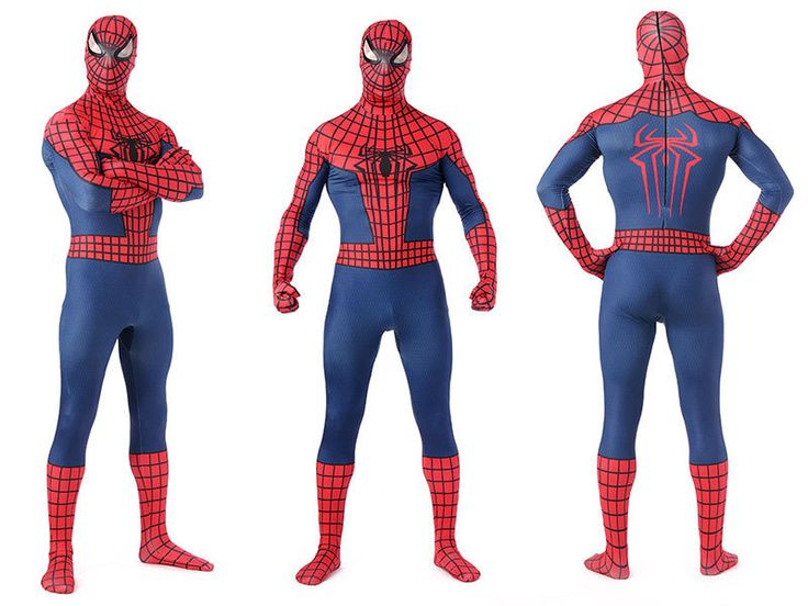 ==> [Free Shipping] Buy Best (LP08102)Super Quality Unisex Adult Kids Full Body Navy Blue Lycra Spandex Superhero Spiderman Zentai Suits Halloween Costume Online with LOWEST Price | 32432387908