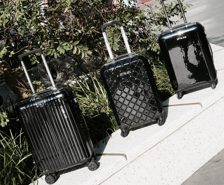 All Good Things Comes in Threes! Airport Style - Boss Black, Check Black and Onyx Carry On Suitcases by Jett Black
