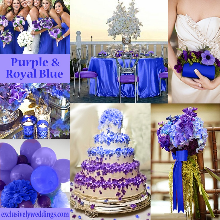Royal blue and purple wedding colors